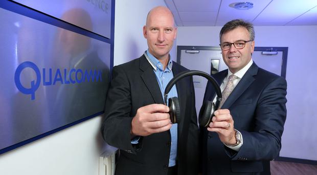 Anthony Murray (left) of Qualcomm and Alastair Hamilton from Invest NI