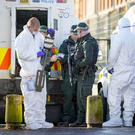 Police continue a major search operation in North Belfast as they now focus on the Henry Place area on November 29th (Photo by Kevin Scott / Belfast Telegraph)