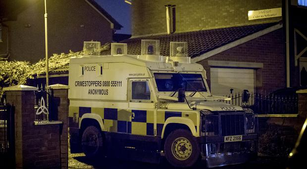 Police officers at the scene of a punishment shooting in the Iris Court area of west Belfast on November 29th (Photo by Kevin Scott / Belfast Telegraph)