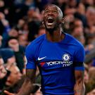 Roaring success: Antonio Rudiger celebrates his decisive goal