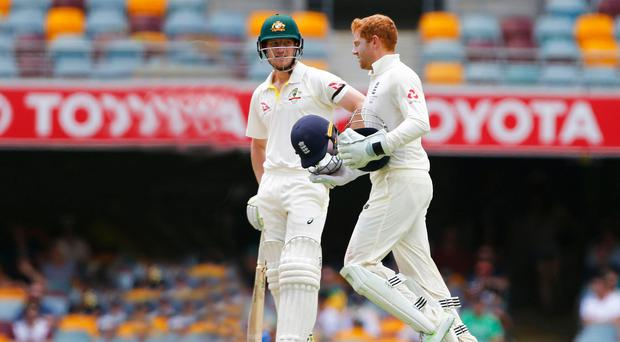 War of words: Cameron Bancroft and Jonny Bairstow during the first Test