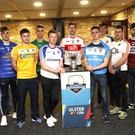 Up for the Cup: representatives of competing sides at last night's McKenna Cup draw in Belfast