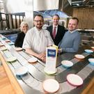 Maria McKeown, First Trust Bank; Michael O'Connor; Mark McKeown, business centre manager, First Trust Bank and Michael Fletcher
