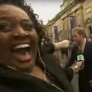 Alison Hammond tried to get a chat with Prince Harry. (ITV)