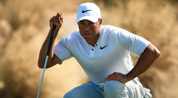 Lining it up: Tiger Woods in the Bahamas