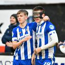 Coleraine's Brad Lyons netted on his first start since his return from injury. Photo Kirth Ferris/Pacemaker Press