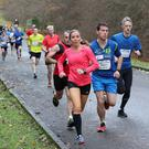 Press Eye - BELFAST TELEGRAPH BORN 2 RUN - RUN FOREST RUN SERIES 5K & 10K Ð LOUGHGALL Ð SATURDAY 2ND DECEMBER Photograph By Declan Roughan Cathy Mc Court leads the womens 10k out.
