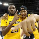 Class act: Towson's Mike Morsell and Justin Gohram celebrate