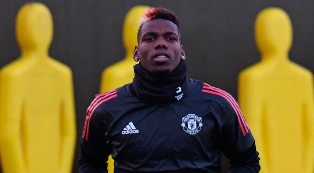 Starter's orders: Paul Pogba will be in European action for United after picking up domestic ban