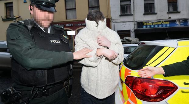 Stephen McKinney appears at Omagh Court on charged with the murder of wife Lu Na McKinney. Pic Colm Lenaghan/Pacemaker Press 04/12/2017