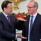 Taoiseach Leo Varadkar (left) with the newly appointed Tanaiste Simon Coveney