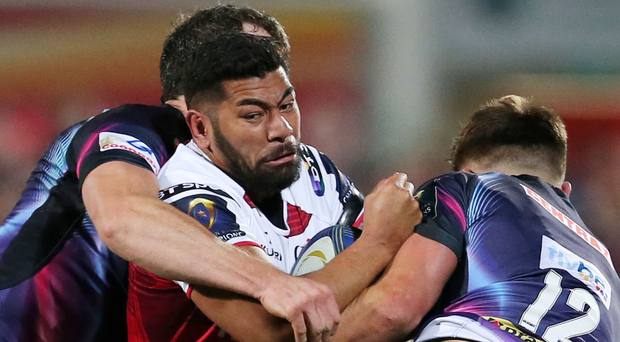 Cross-channel clash: Charles Piutau facing Exeter last year