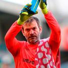 Applause: Roy Carroll pulled off key saves for Linfield