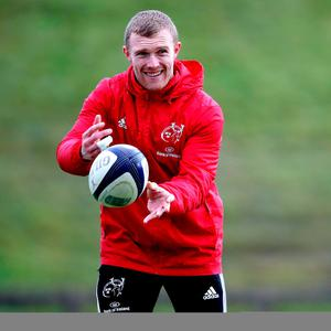 Almost ready: Keith Earls at Munster training after injury