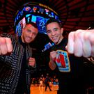 Star quality: Michael Conlan (right) with Vasyl Lomachenko in New York