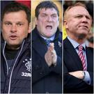 Graeme Murty (left), Tommy Wright (centre) and Alex McLeish (right) and amongst the runners and riders to become Rangers' new manager.