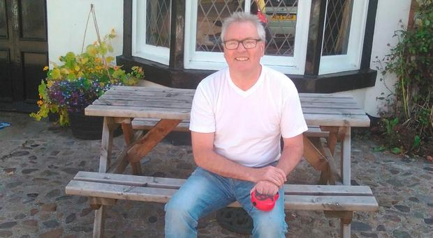 Still going strong: Eric McMordie relaxes near his home, outside Middlesbrough