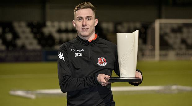 Crusaders' Gavin Whyte is the November Player of the Month.