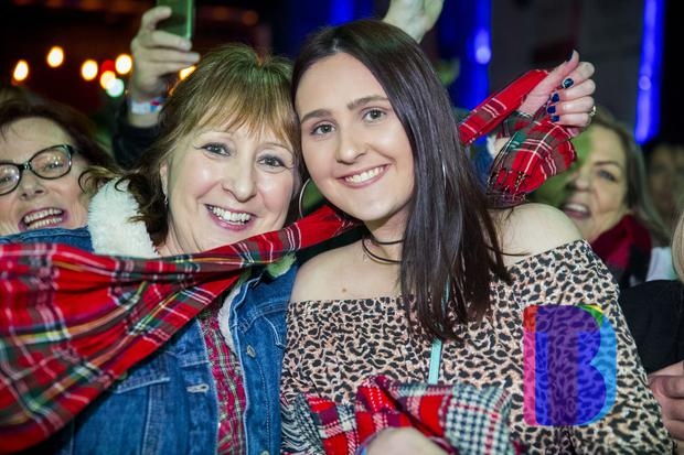 People out to see the Bay City Rollers featuring Les McKeown play Belfast's Limelight. Sunday 10th Dec 2017. Picture by Liam McBurney/RAZORPIX