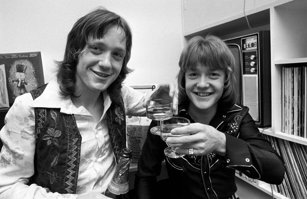Keith Chegwin (right) and his twin brother Jeff celebrating their 21st birthday in Twickenham, London. (PA Wire)