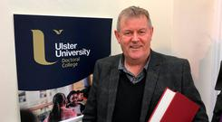 Former construction boss Tony Mac Ruairi has graduated with a PhD in Irish and Celtic studies from Ulster University