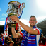 Linfield's Andy Waterworth netted a hat-trick in last year's final. Photo: Mark Marlow/Pacemaker