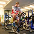 Pedal power: Iain Henderson at Ulster's session at Jordanstown yesterday