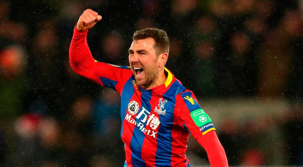 Last-gasp: James McArthur scored the winner for Palace