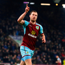 Late show: Burnley's Ashley Barnes after his late winner