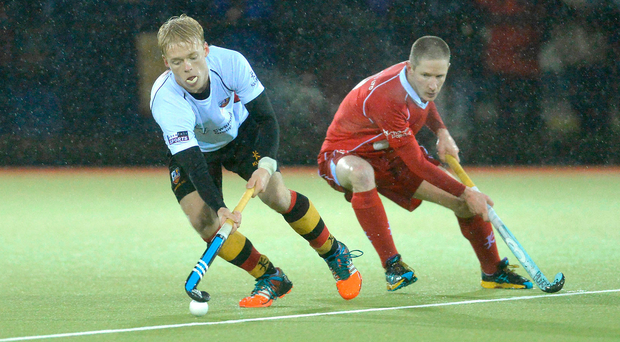As it was: Bann's Peter Brown (left) and Cookstown's Andy Barbour in 2014 Kirk Cup final