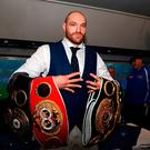 Delighted: Tyson Fury has not fought since November 2015