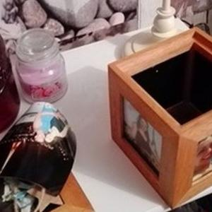 The box that contained the ashes of baby Holly Smallwood