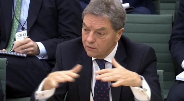 Sir Michael Arthur giving evidence to the NI Affairs Committee