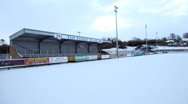 Snow joke: It may have been deep and crisp and even but the white stuff had football almost at a standstill last weekend