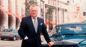 Billy Hastings with his Rolls Royce and personal numberplate