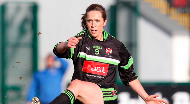 Top of the class: Caroline O'Hanlon playing for Queen's University GAA ladies' side