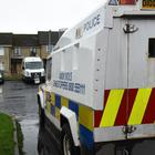 The scene of the security alert at Ederowan Park in the Galliagh Area of Derry. Picture Martin McKeown. Inpresspics.com. 14.12.17