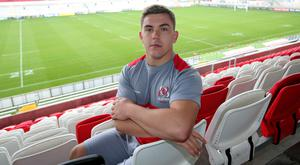On target: Adam McBurney scored all four Ulster tries