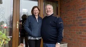 MLA Pat Catney pictured at home in Lisburn with wife Rosemary Picture: Stephen Hamilton