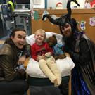 The cast of Sleeping Beauty have paid a visit to the Royal Belfast Hospital for Sick Children.