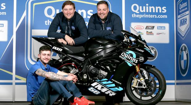 Top team: Adam McLean, sponsor Peter Bradley and Ian Moffitt of IMRacing