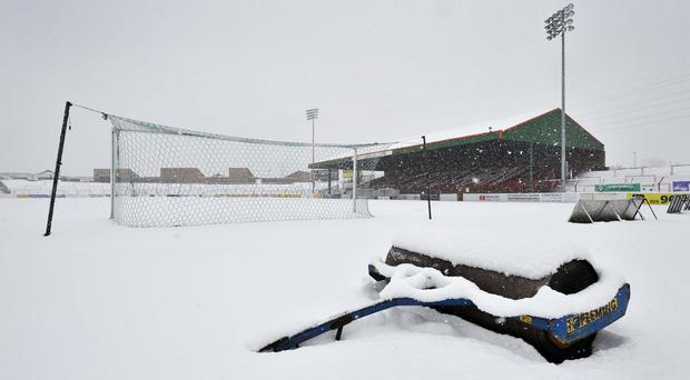 Snow joke: The Oval struggling to deal with one of our harsh winters in 2010