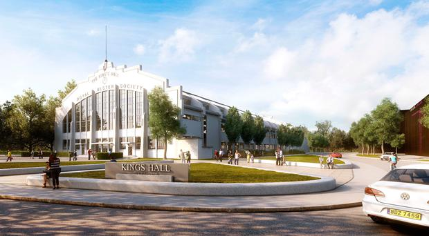 An artist's impression of what the King's Hall health park could look like
