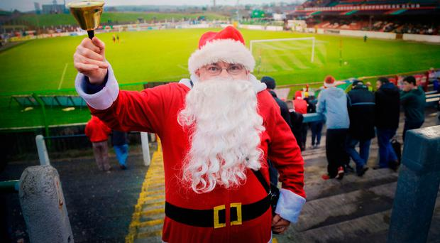 Here we go-hoho: Santa is going to be a busy man at Christmas but he doesn't have five games in a fortnight to contend with