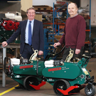 Bill Montgomery of Invest NI and Billy Warke of Groundsman Industries