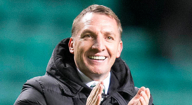 Well done: Brendan Rodgers is pleased with the season so far