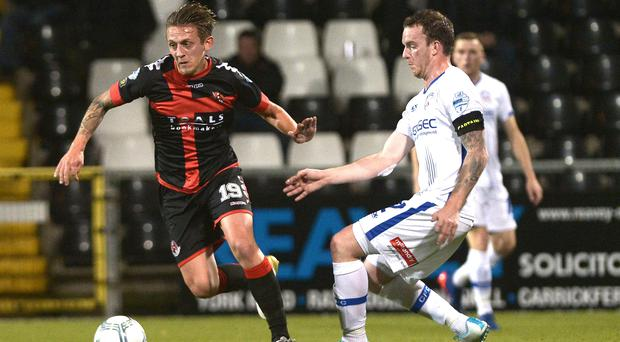Kee man: David Kee (right) is looking forward to getting back into action for Coleraine