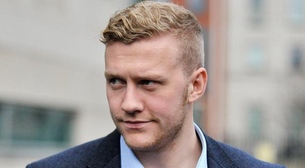 Alan Lewis- PhotopressBelfast.co.uk 22-12-2017 Ulster Rugby star Stuart Olding leaves Belfast Crown Court this afternoon after a judge was told that the Crown did not intend to proceed with one of the two rape charges he faces.