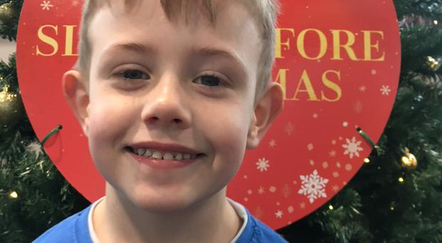 Riley McCauley (5), a pupil at St Joseph's Primary School in Glenmornan, Co Tyrone, had been due to visit Santa at Barrontop Farm in nearby Donemana with his P2 classmates this week