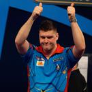 Thumbs up: Daryl Gurney is hitting top form